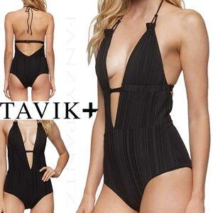 Tavik Emme Swimsuit one piece plunging slinky rib